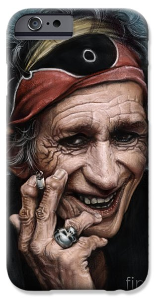 Keith Richards IPhone 6s Case by Andre Koekemoer