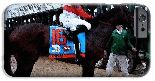 Kentucky Derby Winner Entering The Gate IPhone Case by George Pedro