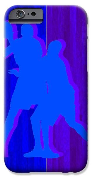 Kevin Durant Kobe Bryant IPhone Case by Joe Hamilton