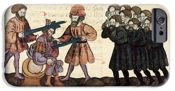 Killing Of King Belshazzar, 1430 Artwork IPhone Case by Patrick Landmann