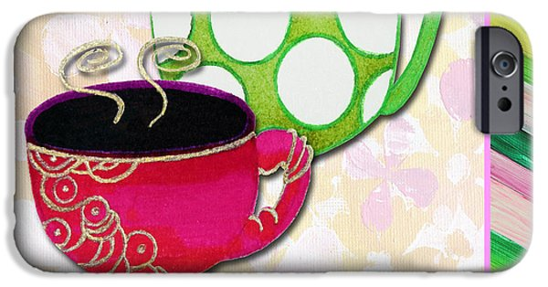 Kitchen Cuisine Tea Party Napkin Design 1 By Romi And Megan IPhone Case by Megan Duncanson