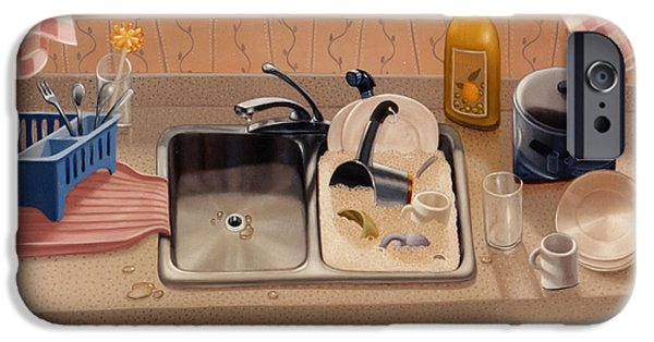 Kitchen Sink Bubba Lees 1997  Skewed Perspective Series 1991 - 2000 IPhone Case by Larry Preston