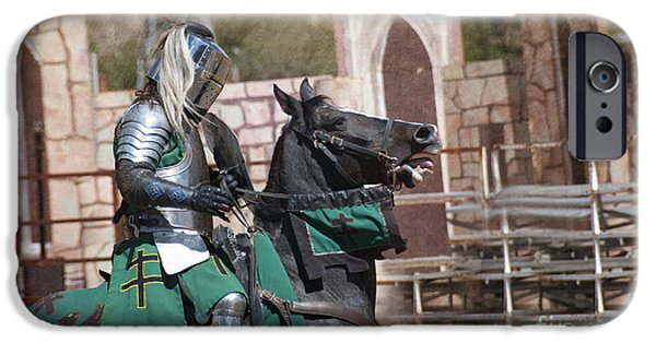 Knight And His Horse IPhone Case by Juli Scalzi