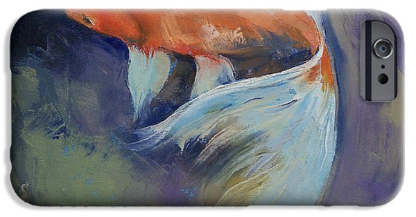 Koi Fish Painting IPhone 6s Case by Michael Creese
