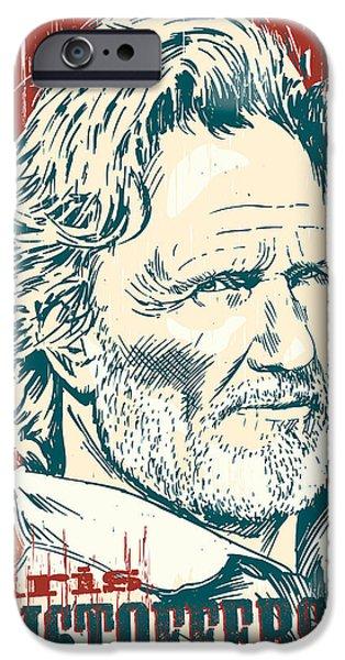 Kris Kristofferson Pop Art IPhone 6s Case by Jim Zahniser