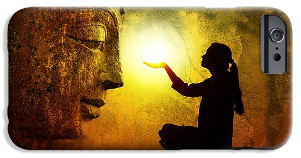 Krishna Devotion IPhone Case by Tim Gainey
