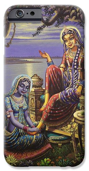 Krishna Disguised As Gopi IPhone Case by Vrindavan Das