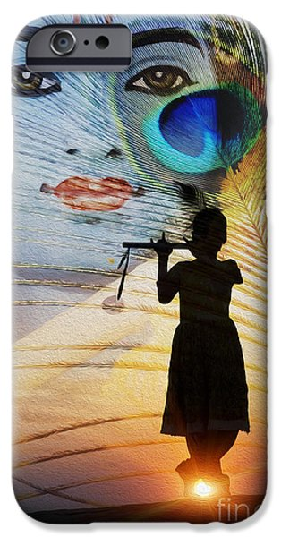 Krishna Jai IPhone Case by Tim Gainey