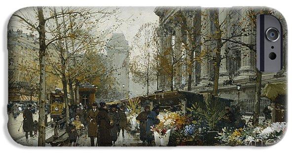 La Madelaine Paris IPhone Case by Eugene Galien-Laloue