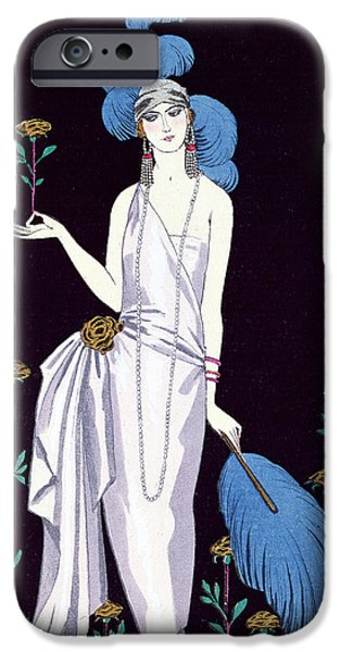 'la Roseraie' Fashion Design For An Evening Dress By The House Of Worth IPhone 6s Case by Georges Barbier
