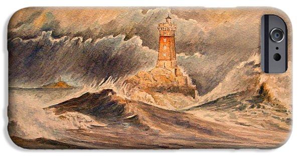 La Vieille Lighthouse IPhone Case by Juan  Bosco