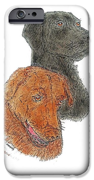 Labrador Buddies IPhone Case by Tim Shoales