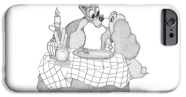 Lady And The Tramp IPhone Case by Arthur Eggers