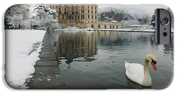 Lake In Front Of A Chateau, Chateau De IPhone Case by Panoramic Images