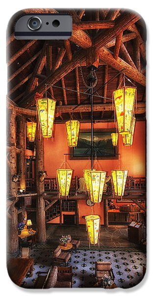 Lake Mcdonald Lodge IPhone Case by Mark Kiver