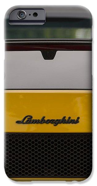 Lambo Logo Yellow IPhone Case by Scott Campbell