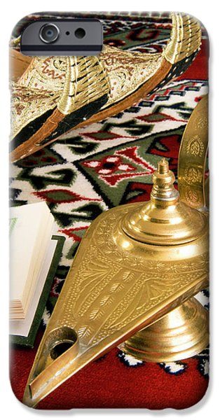 Lamp Of Aladdin, Arabic Shoes, Holy IPhone Case by Nico Tondini