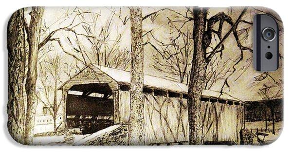 Lancaster Covered Bridge In Winter IPhone Case by Jose A Gonzalez Jr