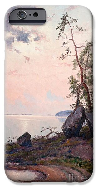 Landscape By The Lake IPhone Case by Celestial Images