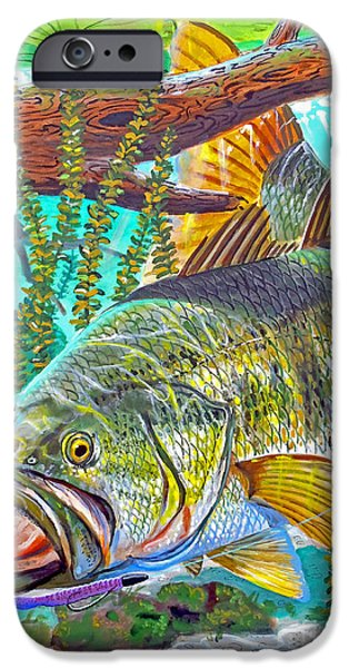 Largemouth Bass IPhone 6s Case by Carey Chen