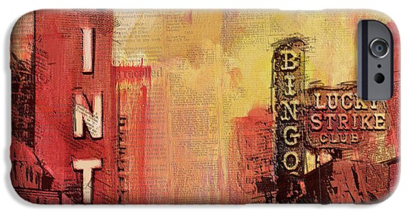 Las Vegas Collage 3 IPhone Case by Corporate Art Task Force