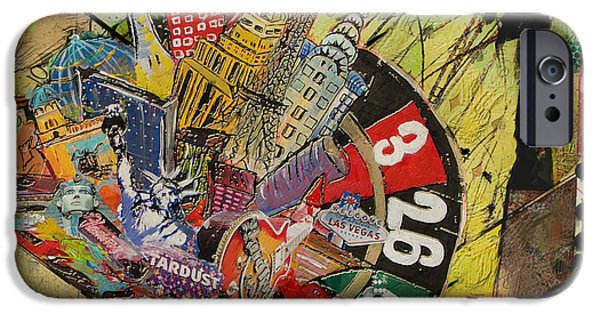 Las Vegas Collage IPhone Case by Corporate Art Task Force