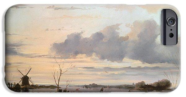 Late Winter In Holland IPhone Case by Nicholas Jan Roosenboom