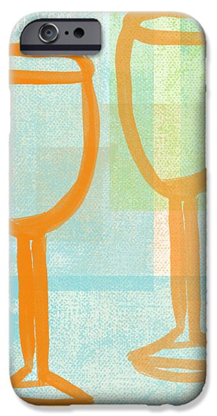 Laugh And Wine IPhone Case by Linda Woods