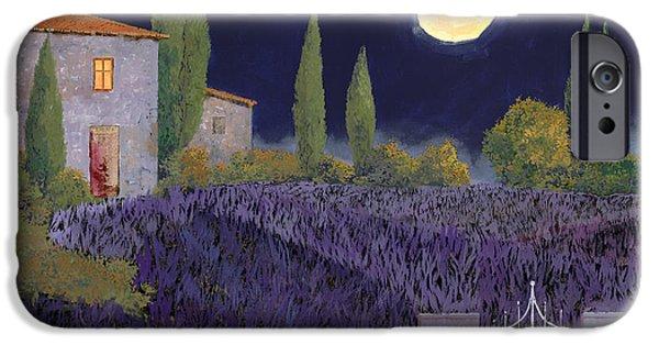 Lavanda Di Notte IPhone Case by Guido Borelli