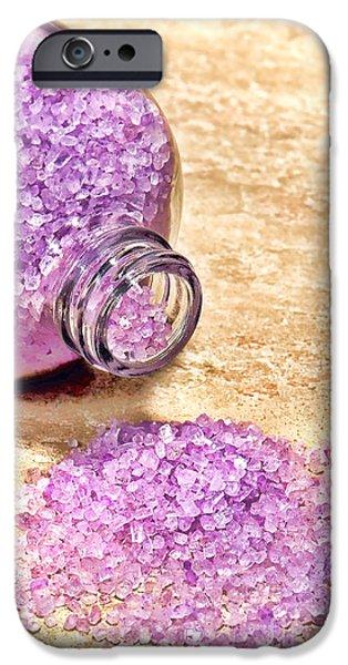 Lavender Bath Salts IPhone Case by Olivier Le Queinec