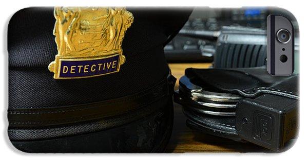 Law Enforcement - The Detective  IPhone Case by Paul Ward