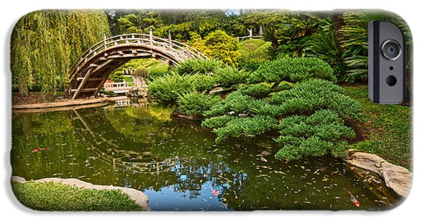 Lead The Way - The Beautiful Japanese Gardens At The Huntington Library With Koi Swimming. IPhone Case by Jamie Pham