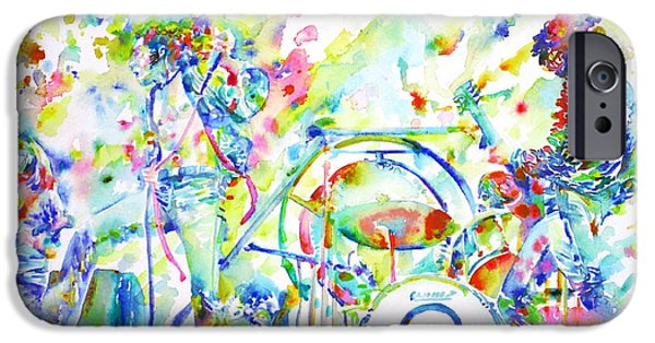 Led Zeppelin Live Concert - Watercolor Painting IPhone Case by Fabrizio Cassetta
