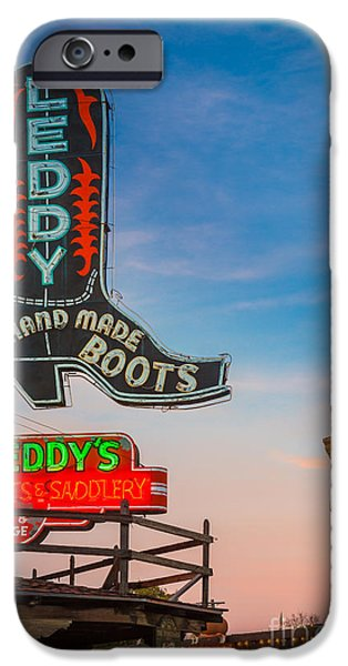 Leddy Boots IPhone Case by Inge Johnsson