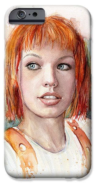 Leeloo Portrait Multipass The Fifth Element IPhone Case by Olga Shvartsur