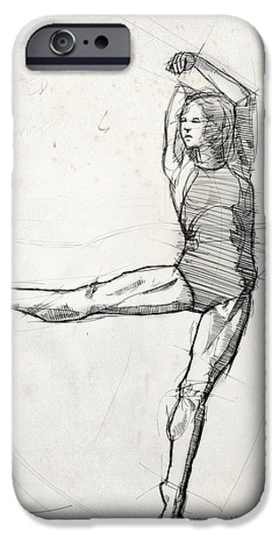 Leg Study IPhone Case by H James Hoff