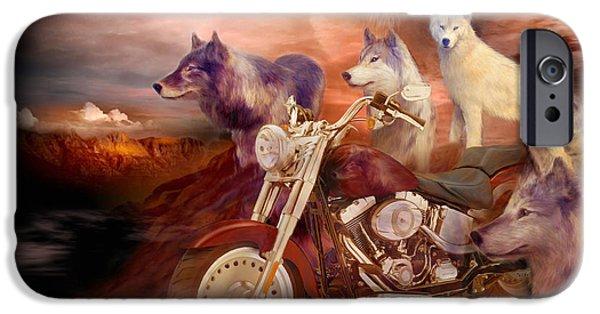 Legend Of Wolf Mountain IPhone Case by Carol Cavalaris
