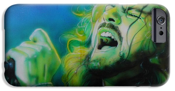 Eddie Vedder - ' Lemon Yellow Sun ' IPhone 6s Case by Christian Chapman Art