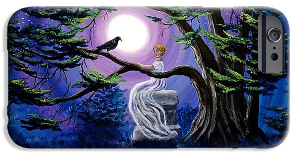 Lenore By A Cypress Tree IPhone Case by Laura Iverson
