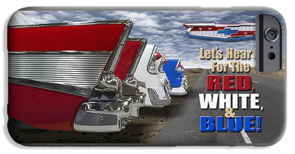 Lets Hear It For The Red White And Blue IPhone Case by Mike McGlothlen