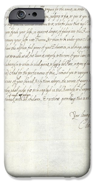 Letter Of Charles I IPhone Case by British Library
