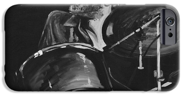 Levon Helm At Drums IPhone Case by Melissa O'Brien