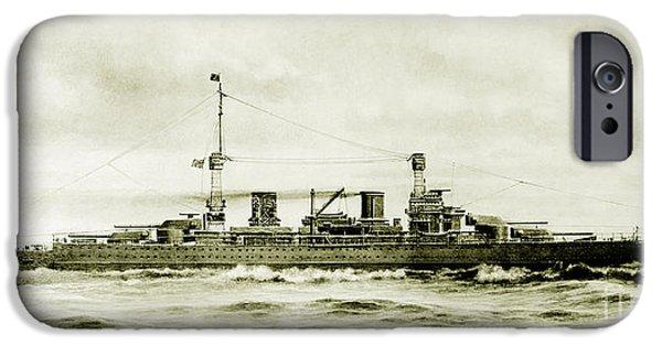 Lexington Class Battle Cruiser IPhone Case by Jon Neidert
