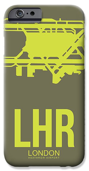 Lhr London Airport Poster 3 IPhone Case by Naxart Studio