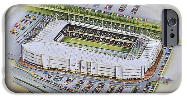 Liberty Stadium - Swansea City IPhone Case by D J Rogers