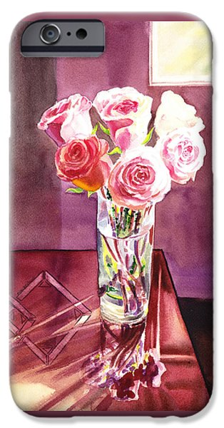 Light And Roses Impressionistic Still Life IPhone Case by Irina Sztukowski