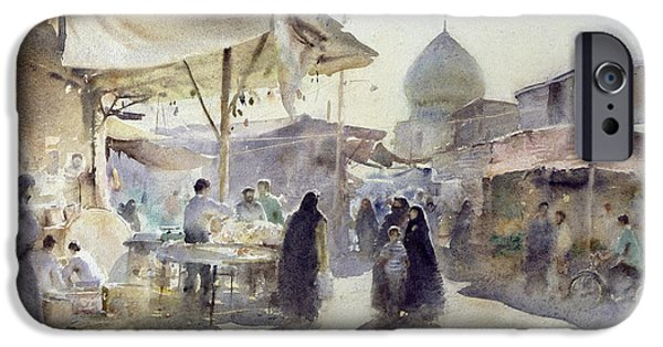 Light And Shade, Shiraz Bazaar, 1994 Wc On Paper IPhone Case by Trevor Chamberlain