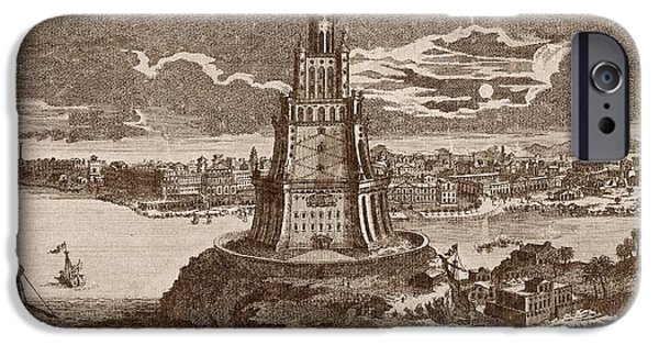 Lighthouse Of Alexandria IPhone Case by Mid-manhattan Picture Collection/new York Public Library