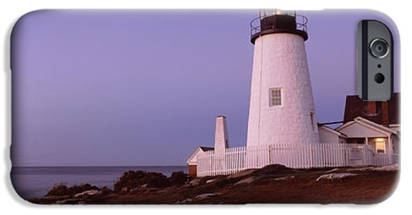 Lighthouse On The Coast, Pemaquid Point IPhone Case by Panoramic Images
