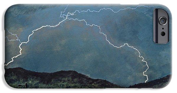 Lightning Storm   IPhone Case by Paul Krapf